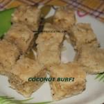 Coconut burfi or thengai burfi