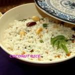 South indian coconut rice or thengai sadam recipe