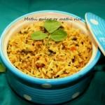 Methi pulao or methi rice