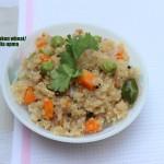 Broken wheat/dalia upma recipe