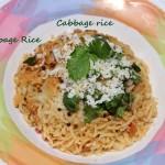 Cabbage rice recipe