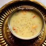 Sabudana (sago pearls) kheer recipe