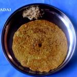 Adai recipe or mixed lentils dosa recipe – healthy breakfast recipe