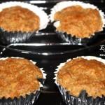 Eggless whole wheat carrot muffins recipe