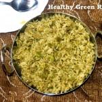 Healthy Green Rice or Green pulao recipe