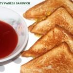 Toasty paneer (cottage cheese) sandwich recipe