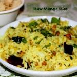 Raw Mango Rice or Mavinakaya chitranna recipe
