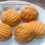Eggless whole wheat almond cookies recipe