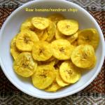Kerala raw banana (plaintain) chips or nendran chips recipe