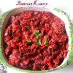 Beetroot kurma recipe
