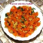 Carrot stir-fry – carrot palya – carrot poriyal – carrot subzi recipe