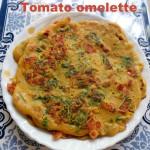 Tomato omelette recipe – how to make tomato omelette recipe – eggless | veg omelette recipe