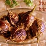 Stuffed baingan/brinjal (eggplants) recipe – How to make stuffed brinjals (bharli vangi) recipe