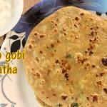 Aloo gobi paratha recipe – How to make aloo gobi (potato cauliflower) paratha recipe