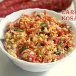 Carrot moong dal salad recipe – How to make carrot kosambari recipe – salad recipes