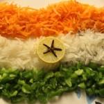 Tiranga salad recipe – How to make tiranga salad recipe – Indian recipes