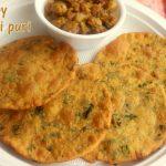 Methi puri recipe – How to make crispy methi puri recipe – methi pooris