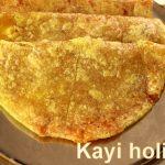 Kayi holige recipe – kayi obbattu recipe – coconut puran poli – Holi recipes
