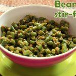 French beans subzi – Maharashtrian style recipe – How to make Farasbi chi sabzi – side dish for rotis