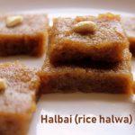 Halbai recipe – How to make rice halbai or rice halwa recipe – Karnataka recipes