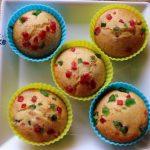 Tutti frutti cup cake recipe – How to make eggless tutti frutti muffins – eggless cake recipes