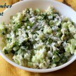 Cucumber peanut salad recipe – How to make cucumber peanut salad or khamang kakdi salad recipe – salad recipes